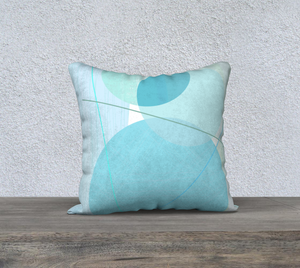 Pivot Point Blues Throw Pillow by Deloresart