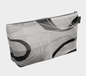 Shenanigans Makeup Bag in Greyscale