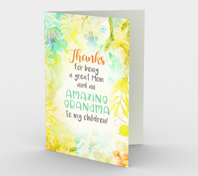 1197. Thanks Amazing Grandma  Card by DeloresArt