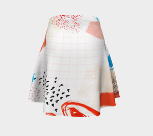 All You Need Is Love  Flare Skirt by Deloresart