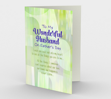 1429 To My Wonderful Husband Card by Deloresart