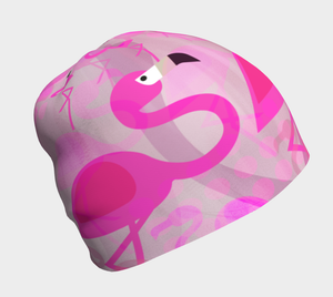 Flashy Flamingo Beanie by Deloresart