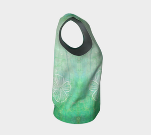 Bra Off Loose Tank by Deloresart in Greens