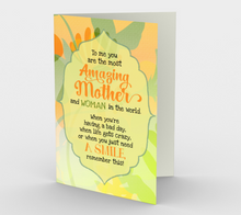 1129.You Are The Most Amazing Mom  Card by DeloresArt