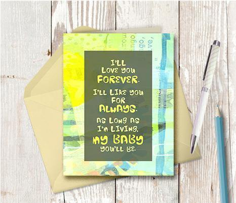 0914  I Will Love You Forever Note Card