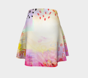 I Love Us Flare Skirt by Deloresart