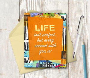 0921 Every Second With You Is Perfect Note Card