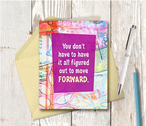 0922 Move Forward Note Card
