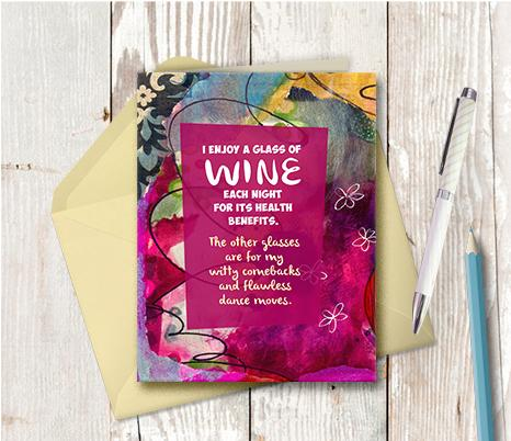 0930  Wine Flawless Dance Moves Note Card