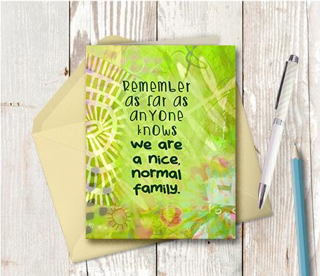 0932 Nice Normal Family Note Card