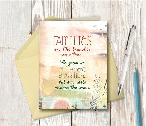 0934 Family Like Branches Note Card