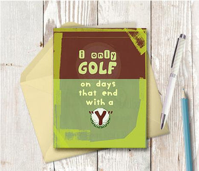 0938 Golf Note Card