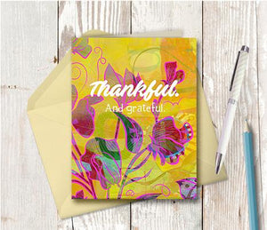 0940 Thankful And Grateful Note Card