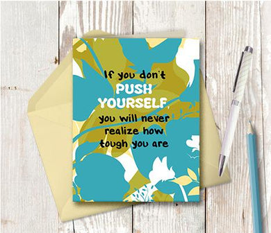 0941 Push Yourself Note Card