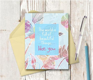 0942 Beautiful Things Like You Note Card