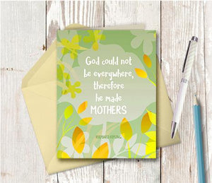 0945 God Made Mothers Note Card