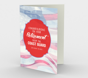 1378 Retirement/Coast Guard Card by Deloresart
