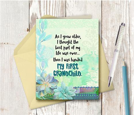0946 As I Grew Older Held Grandchild Note Card