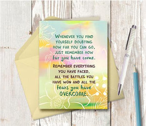 0948 When You Find Yourself Doubting Note Card