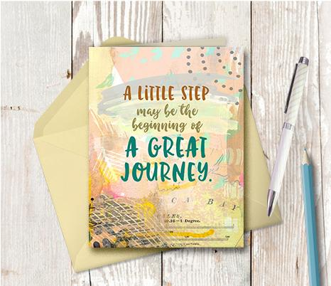 0951 A Little Step May Be The Beginning Note Card