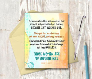 0952 Women I Love And Admire Note Card