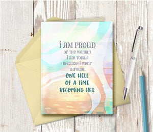 0955 Woman I Am Today Note Card