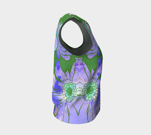 Francella Floret Loose Tank in Greens