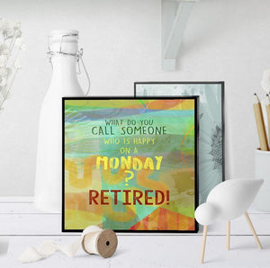 0960 Happy On Monday Retired Art
