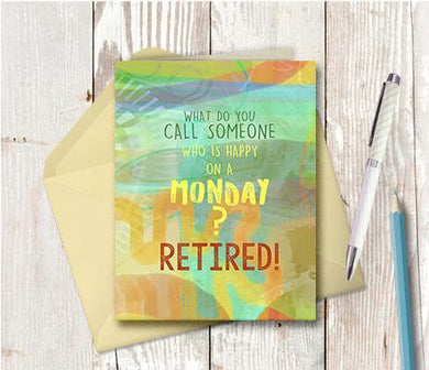 0960 Happy On Monday Retired Note Card