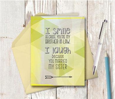0964 Brother In Law Laughing Note Card