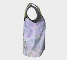 Pekinese Garden Loose Tank in Mauve and Moss - deloresartcanada