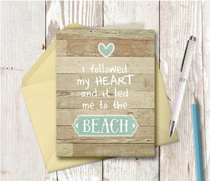 0968 Followed My Heart To The Beach Note Card