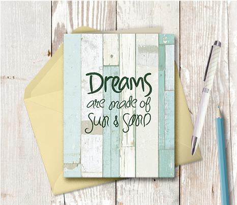 0969 Dreams Are Made Of Sun And Sand Note Card
