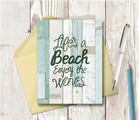 0970  Life is a Beach Note Card