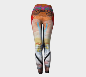 Red Panic Leggings by Deloresart
