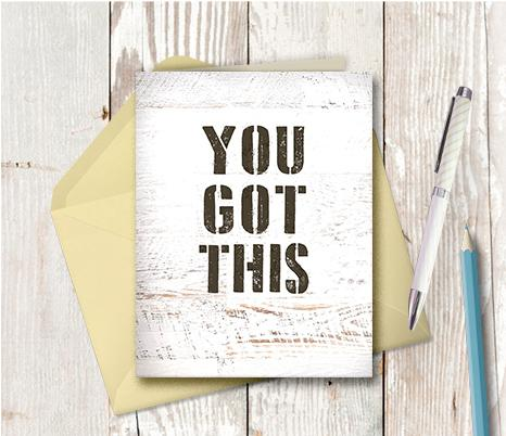 0973 You Got This Note Card