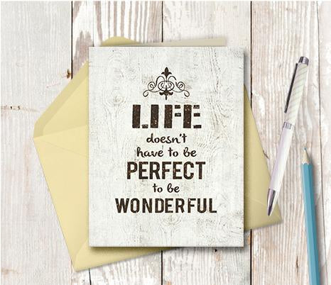 0977  Life Doesnêt Have To Be Perfect Note Card
