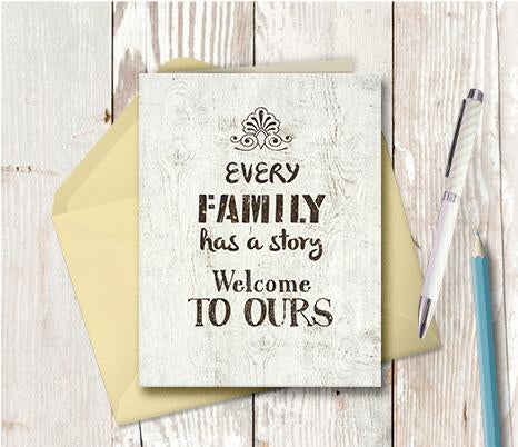 0979 Every Family Has A Story Note Card