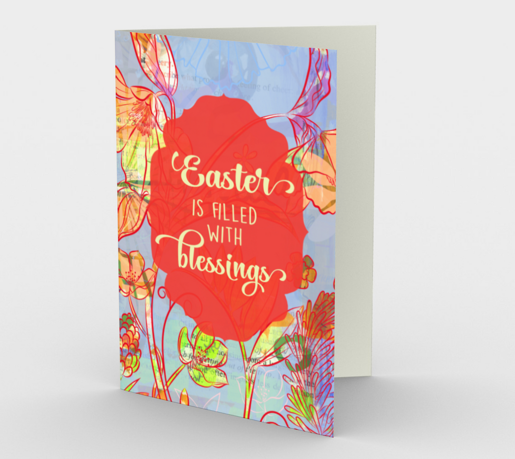 1163. Easter Blessings  Card by DeloresArt