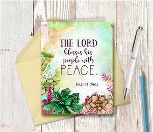 0981 The Lord Blesses His People With Peace Note Card