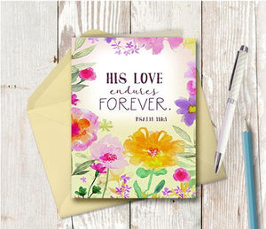 0982 His Love Endures Forever Note Card