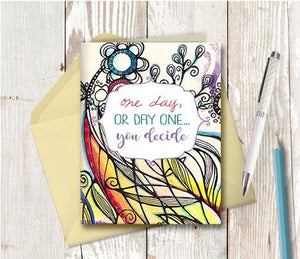 0985 One Day Or Day One Note Card
