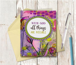 0986 With God All Things Are Possible Note Card