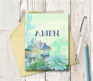 0987 Amen Note Card