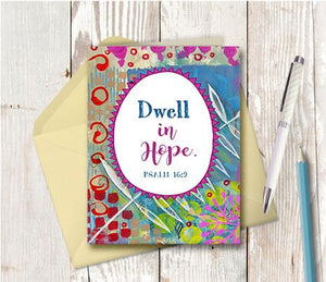 0988 Dwell In Hope Note Card