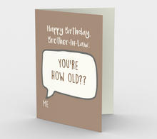 1279. Happy Birthday Brother-in-Law  Card by DeloresArt