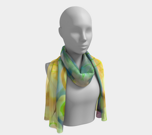 Dappled Grasses Scarf by Deloresart
