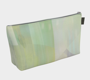 Angle Iron Makeup Bag in Soft Greens