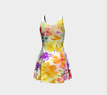 Victoria Blooms Flare Dress by Deloresart