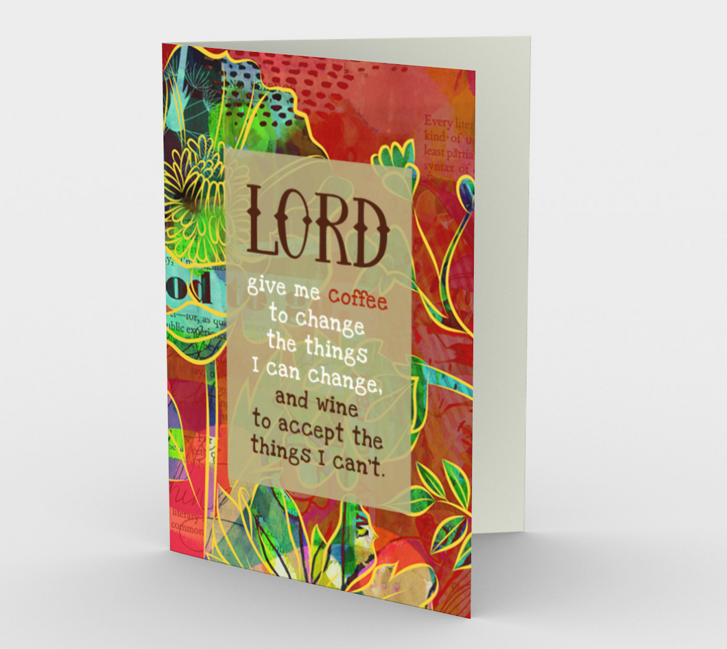 0589.Lord  Give Me Coffee  Card by DeloresArt
